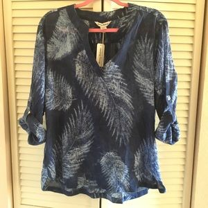 Tommy Baham feather sheer top